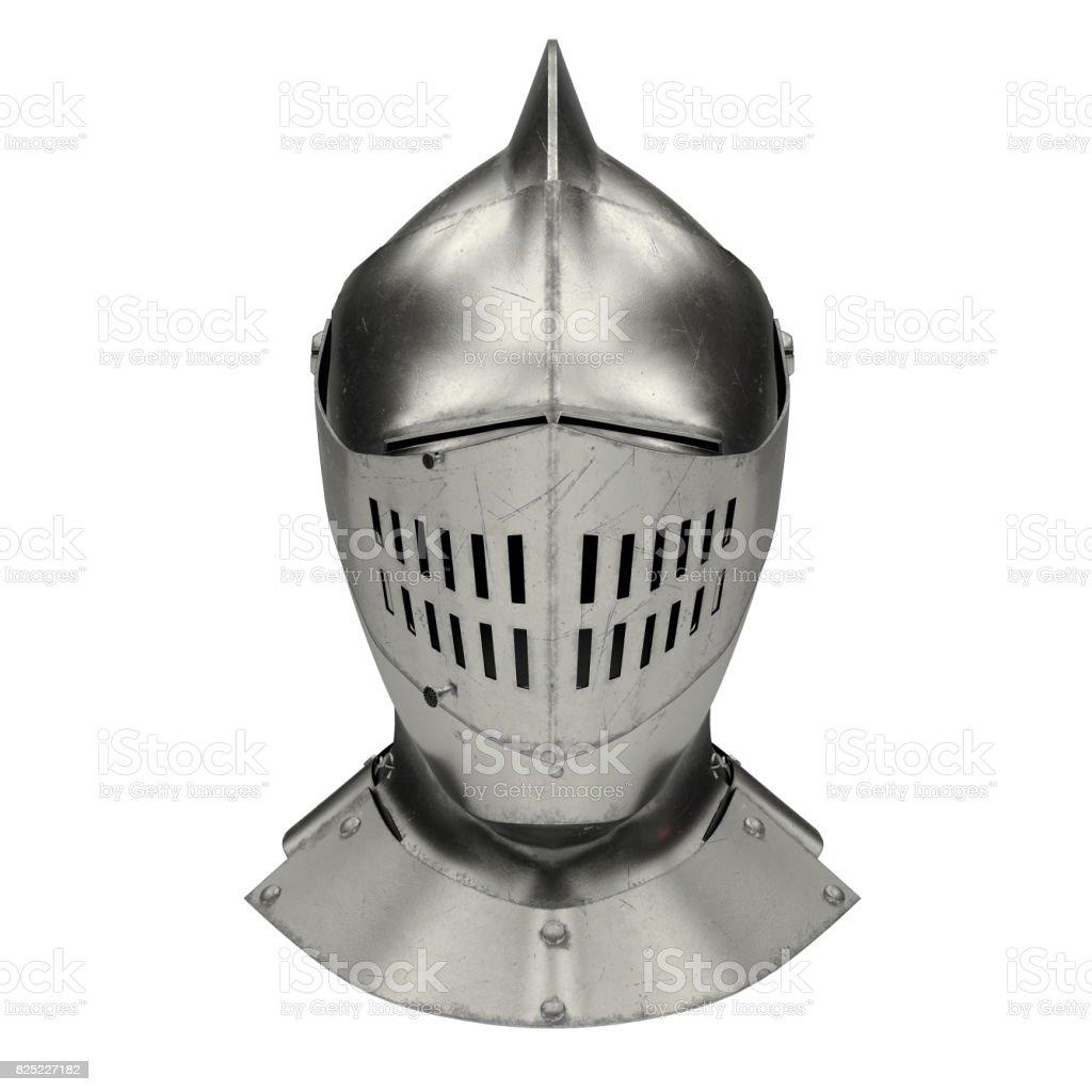Medieval Knight Armet Helmet stock photo
