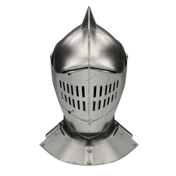 medieval knight armet helmet - kask sportowy zdjęcia i obrazy z banku zdjęć