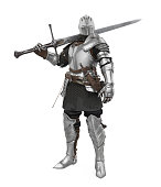 istock Medieval Knight Armor Isolated 1251355287
