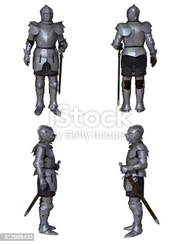 istock Medieval Knight Fantasy Character Set (Milanese) 512988433