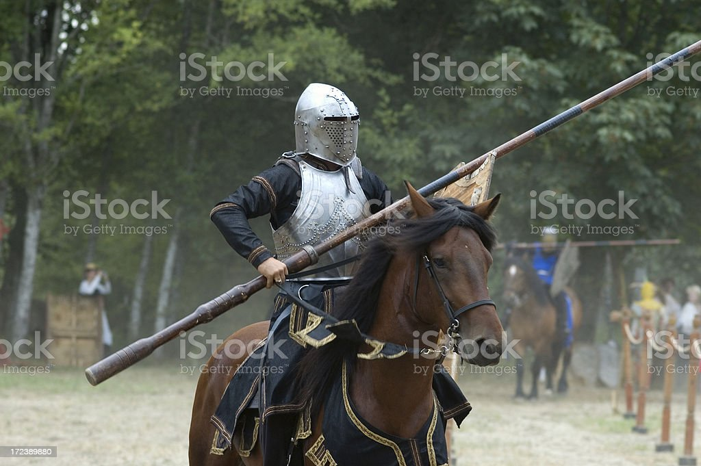 Medieval Knight - Jousting Tournament royalty-free stock photo