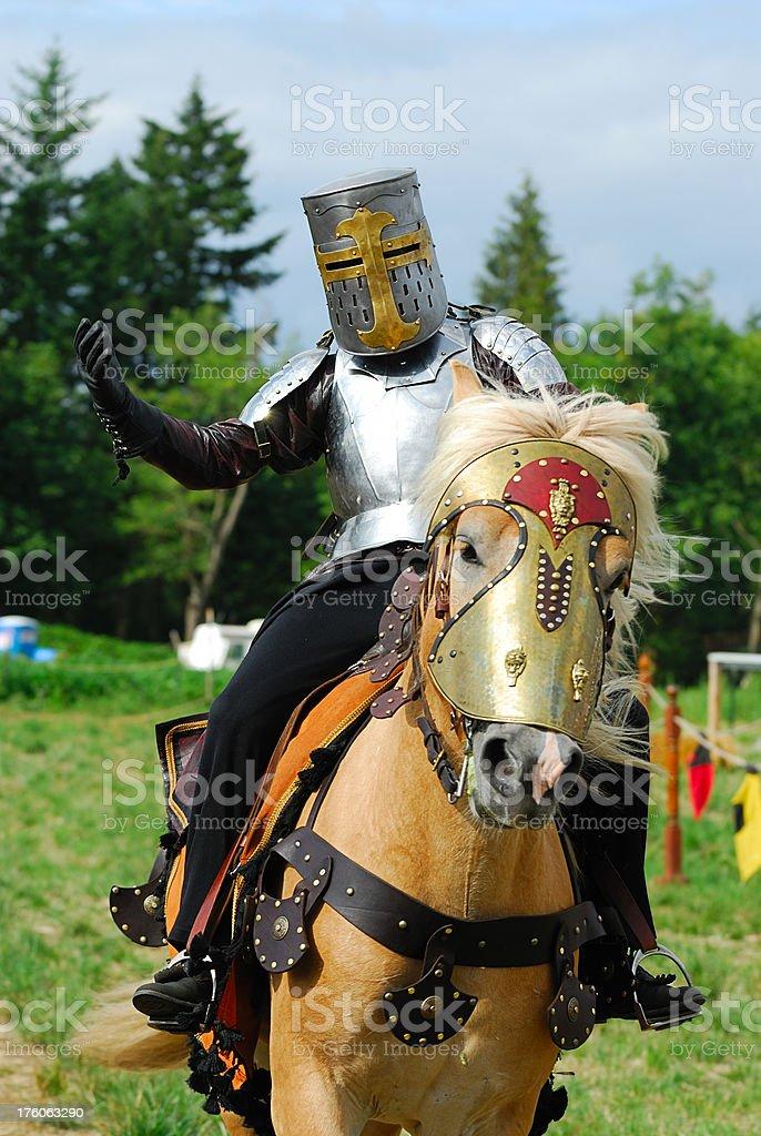 Medieval Knight on Horseback royalty-free stock photo