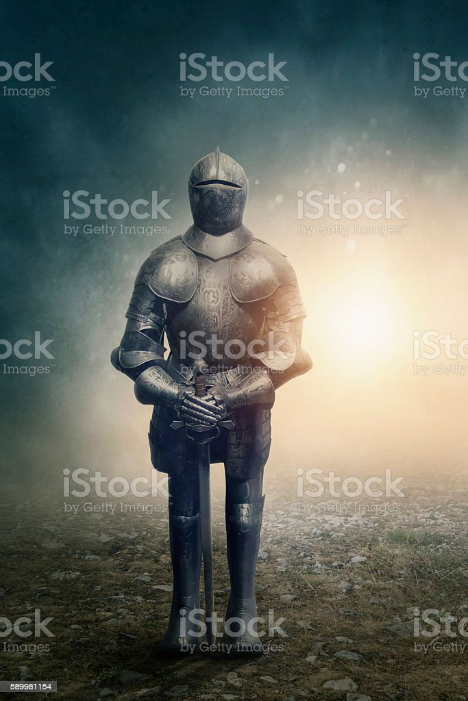 Medieval caballero - foto de stock