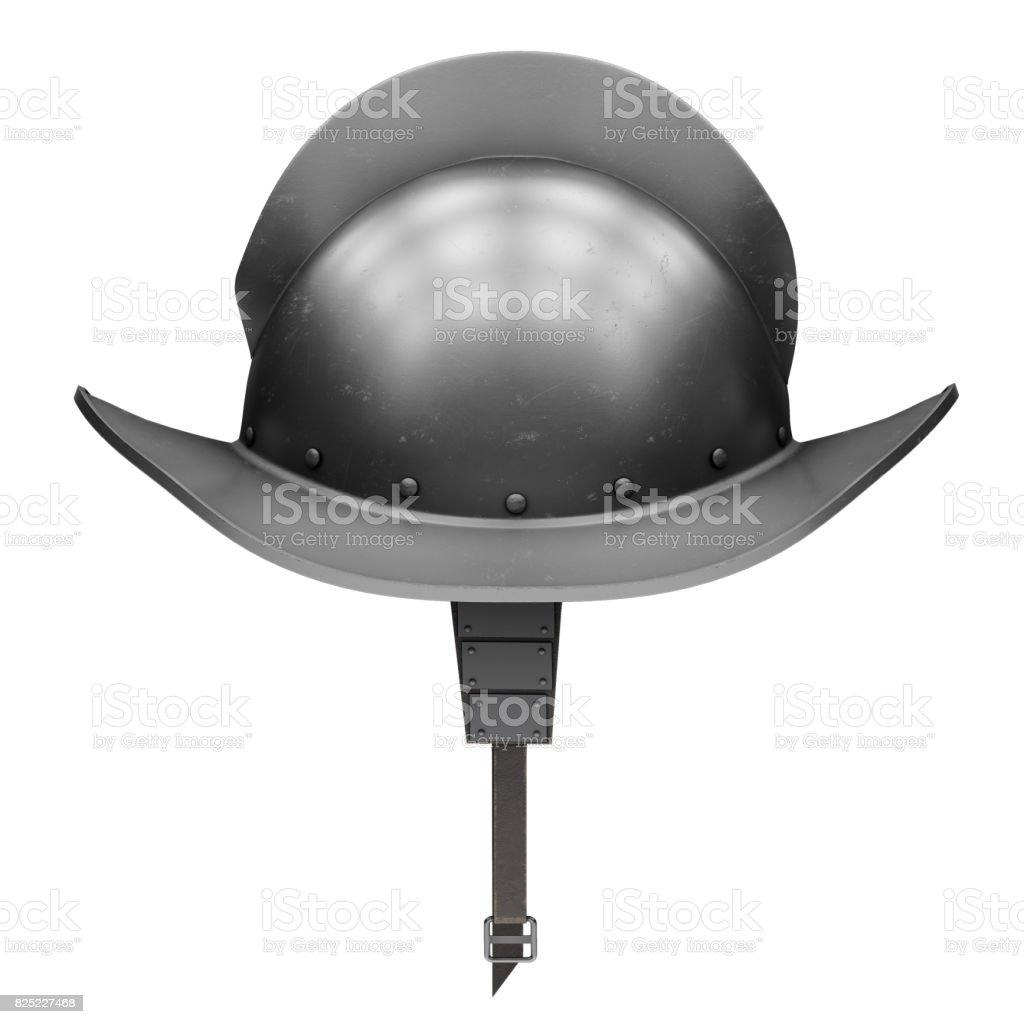 Medieval Knight Spanish Morion Helmet stock photo
