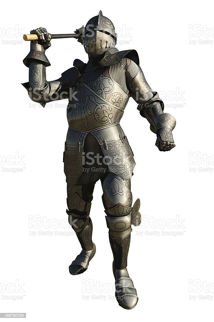 Medieval Knight with Mace royalty-free stock photo
