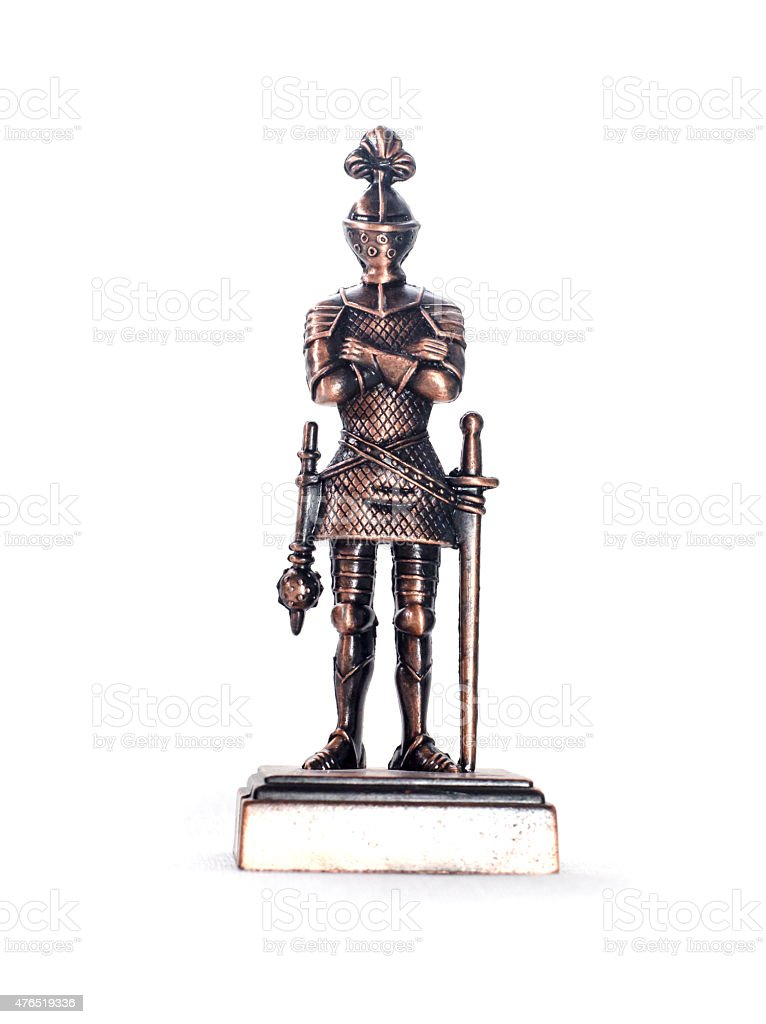 Medieval Knight with Mace stock photo