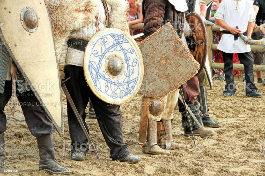 Medieval knights Tournament stock photo