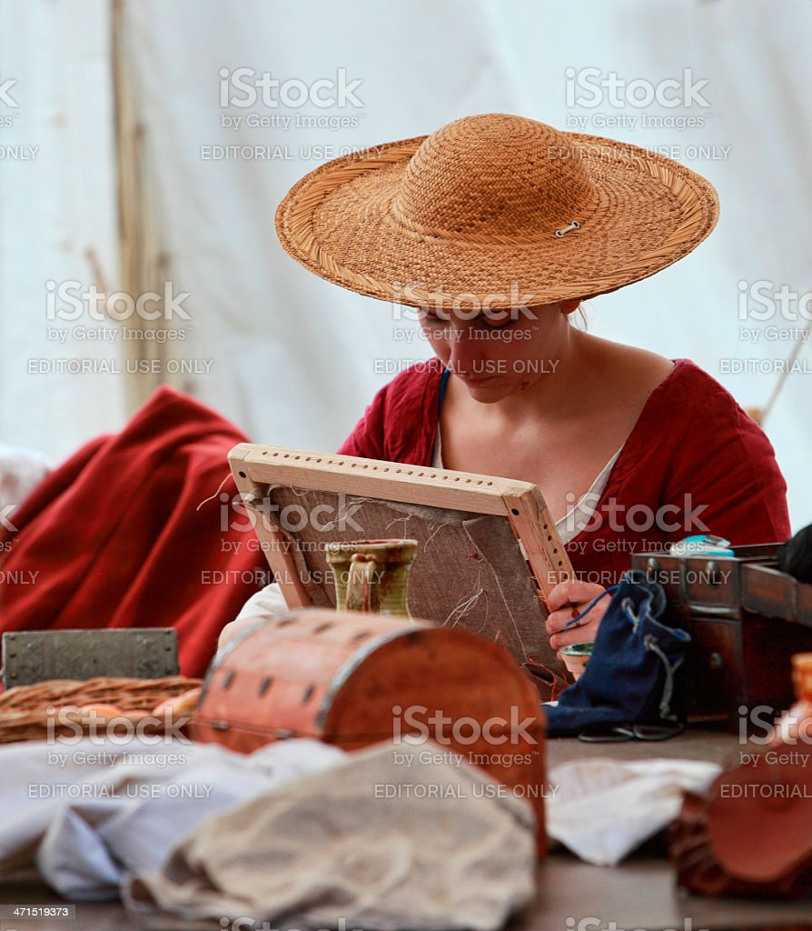 Medieval Lady royalty-free stock photo