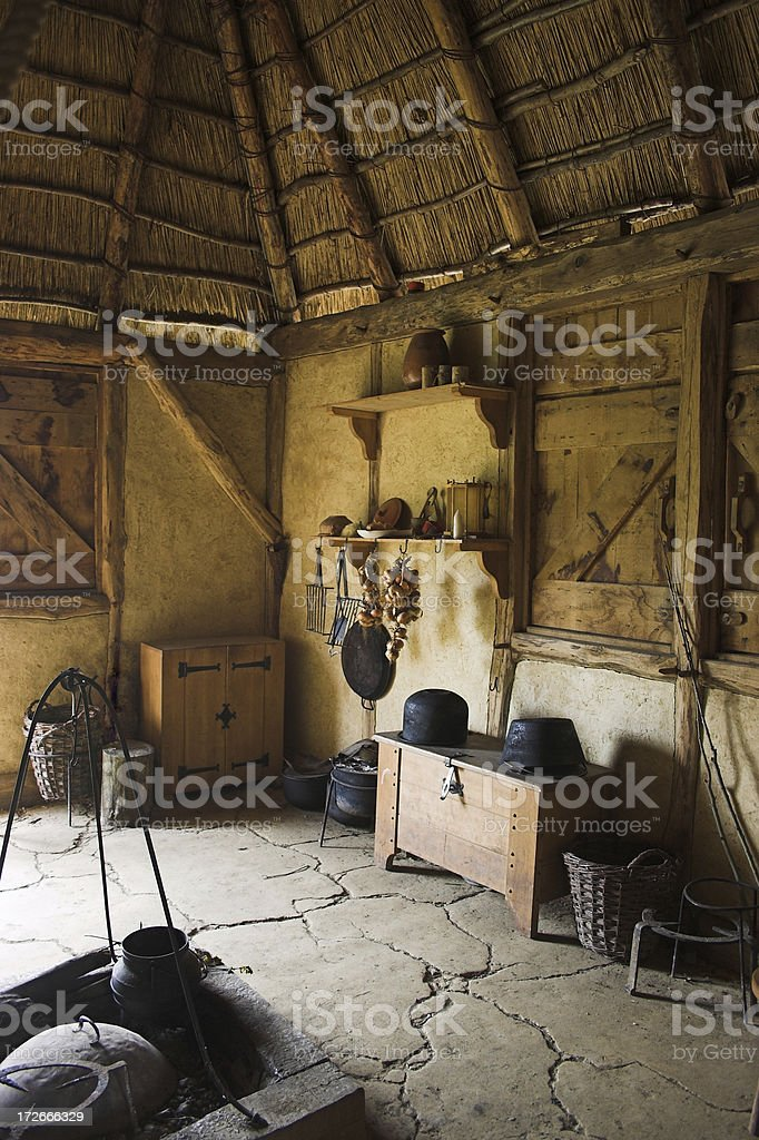 medieval living room royalty-free stock photo