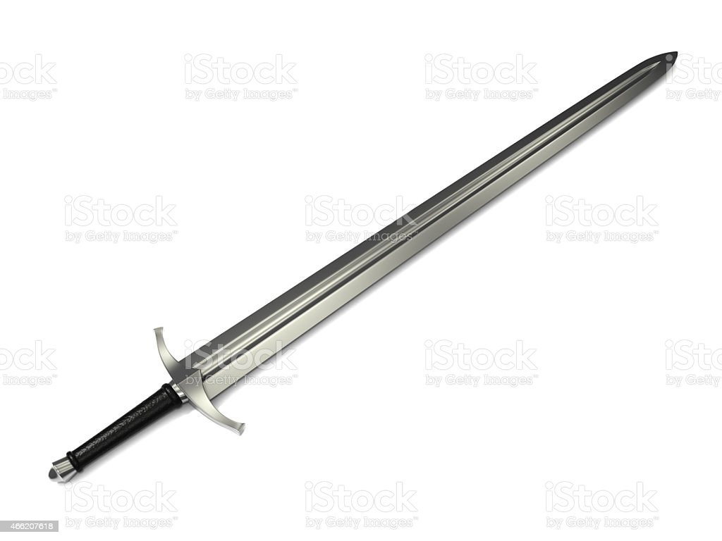 Medieval Long Sword stock photo