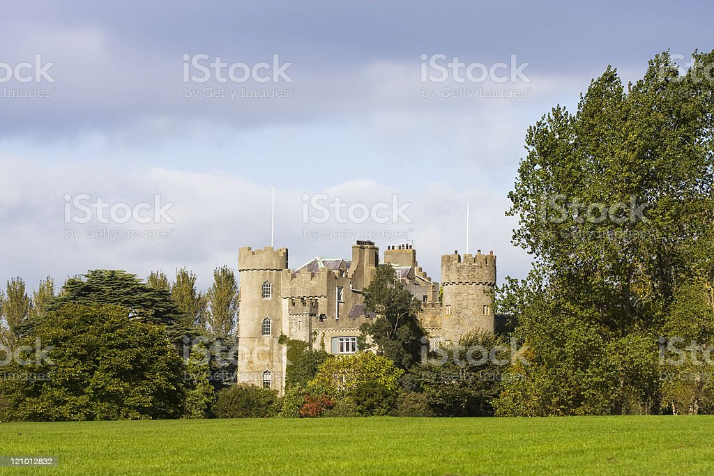 Medieval Malahide Castle royalty-free stock photo