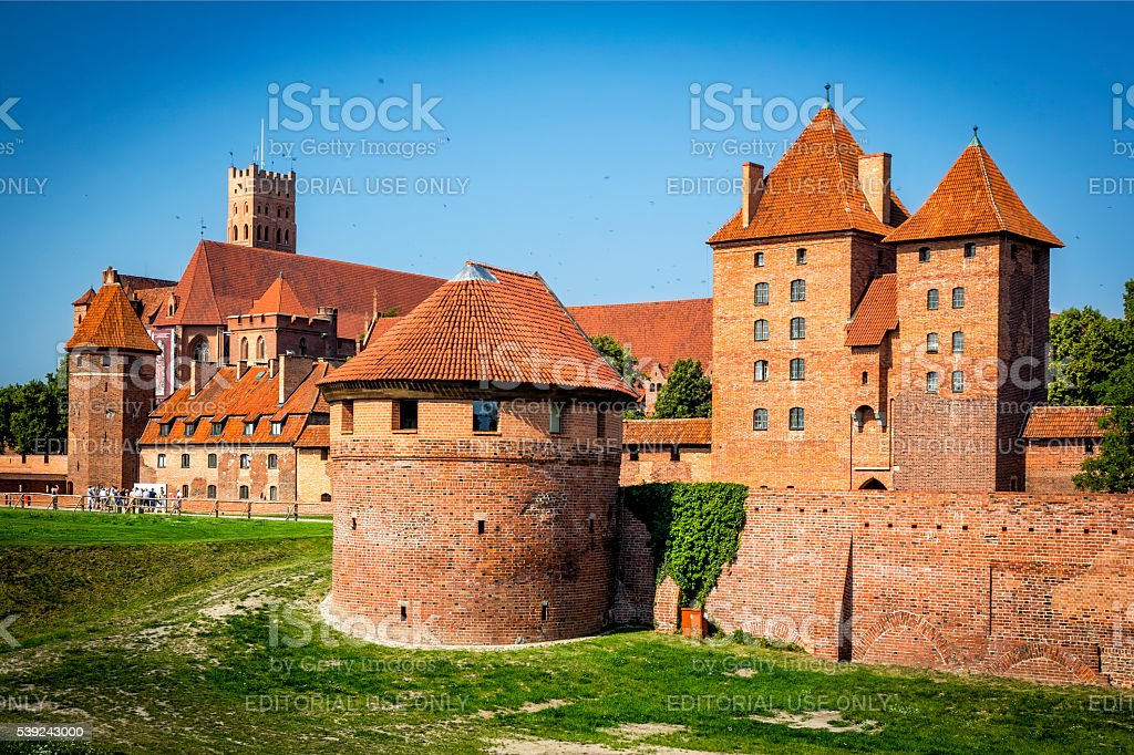 Medieval Malbork castle, Poland royalty-free stock photo