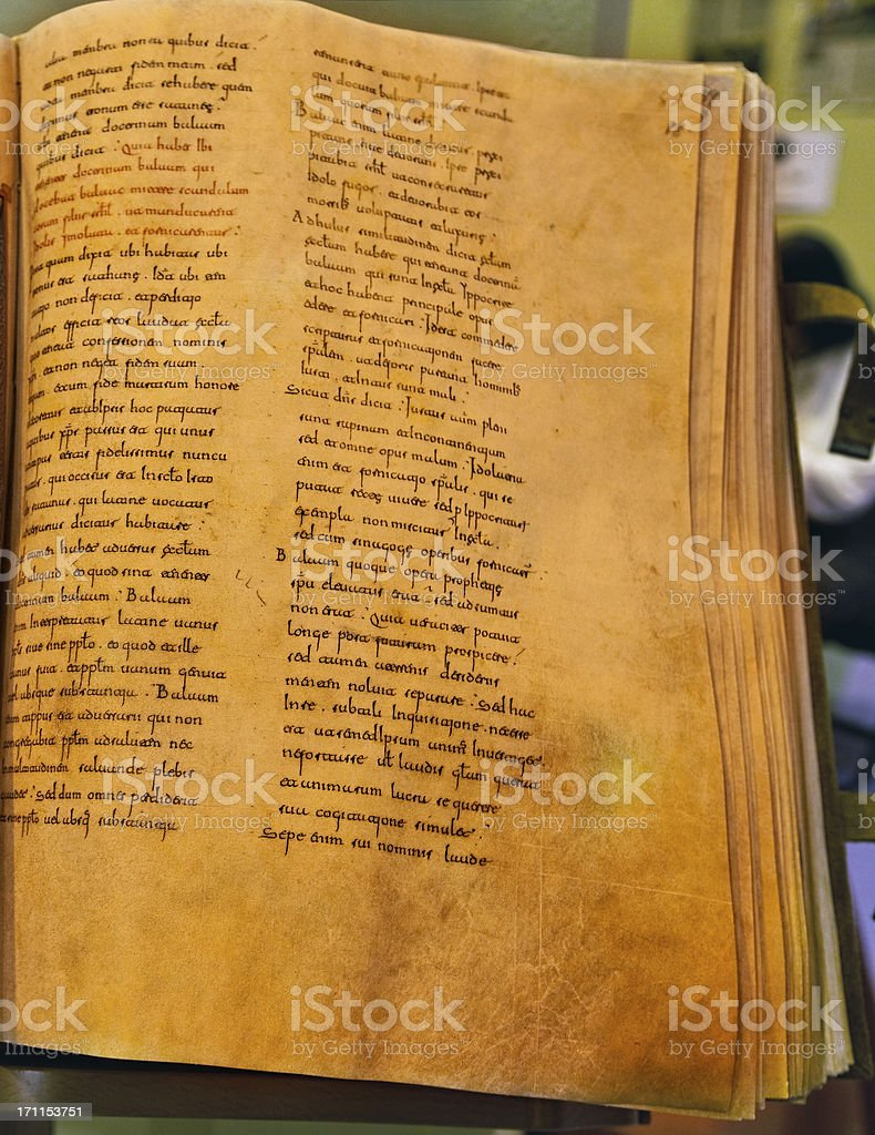 medieval manuscript royalty-free stock photo