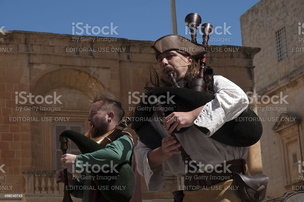 Medieval Mdina festival stock photo