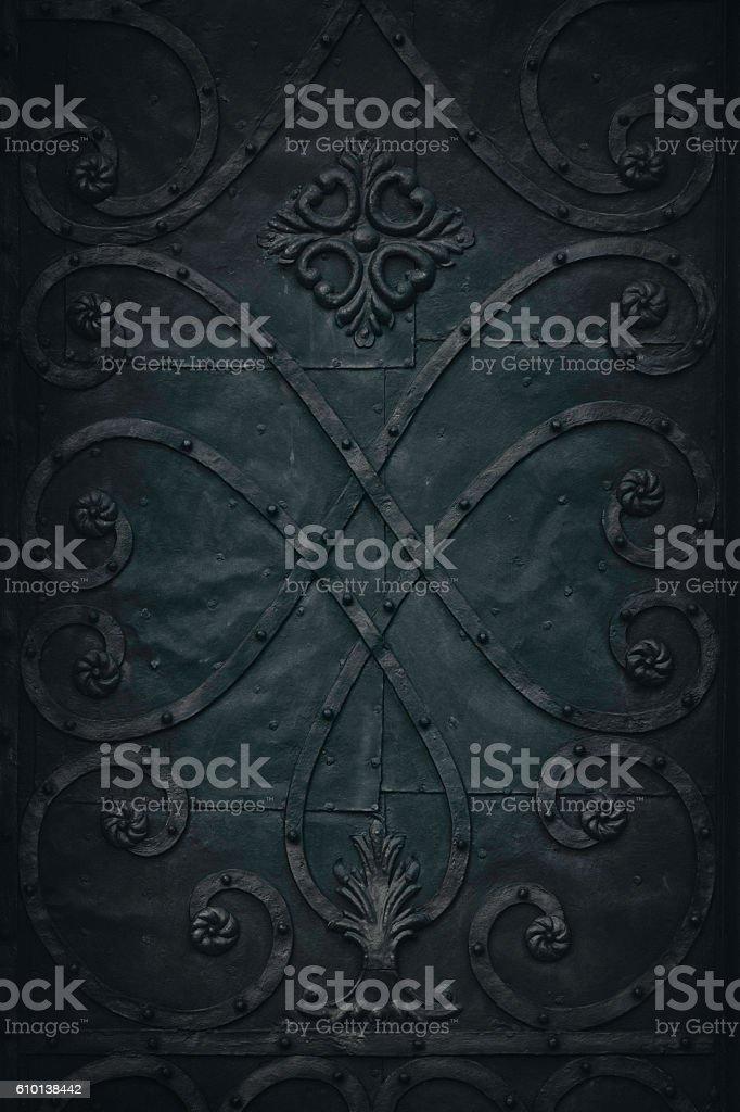 Medieval metal background stock photo