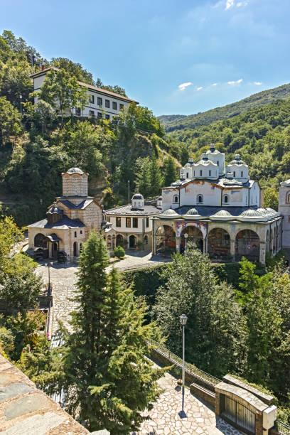 Ortaçağ Manastırı St. Joachim of Osogovo, Kuzey Makedonya stok fotoğrafı