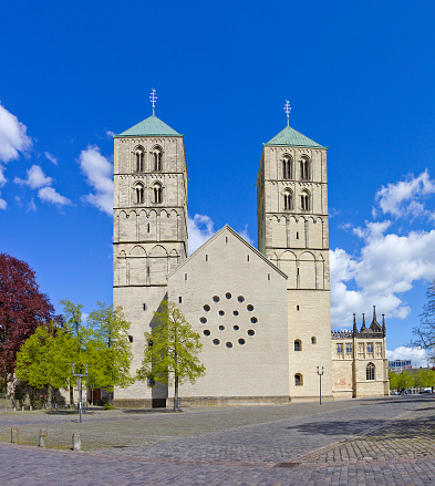 Medieval Muenster Cathedral Or St Paulusdom In Muenster Germany Stock Photo - Download Image Now