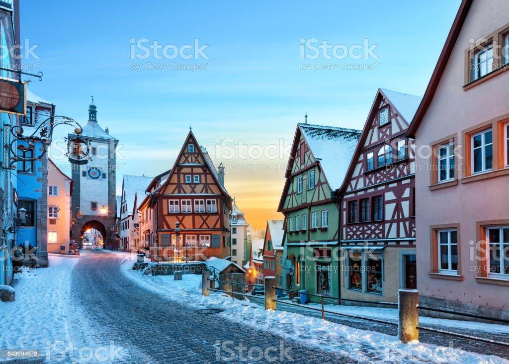 Medieval old Rothenburg ob der Tauber – Foto