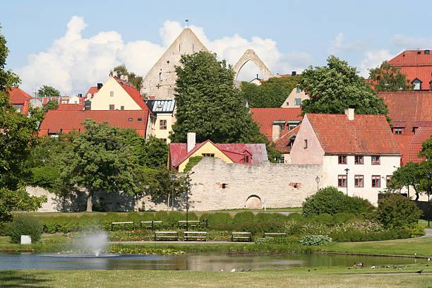 Medieval Park bildbanksfoto