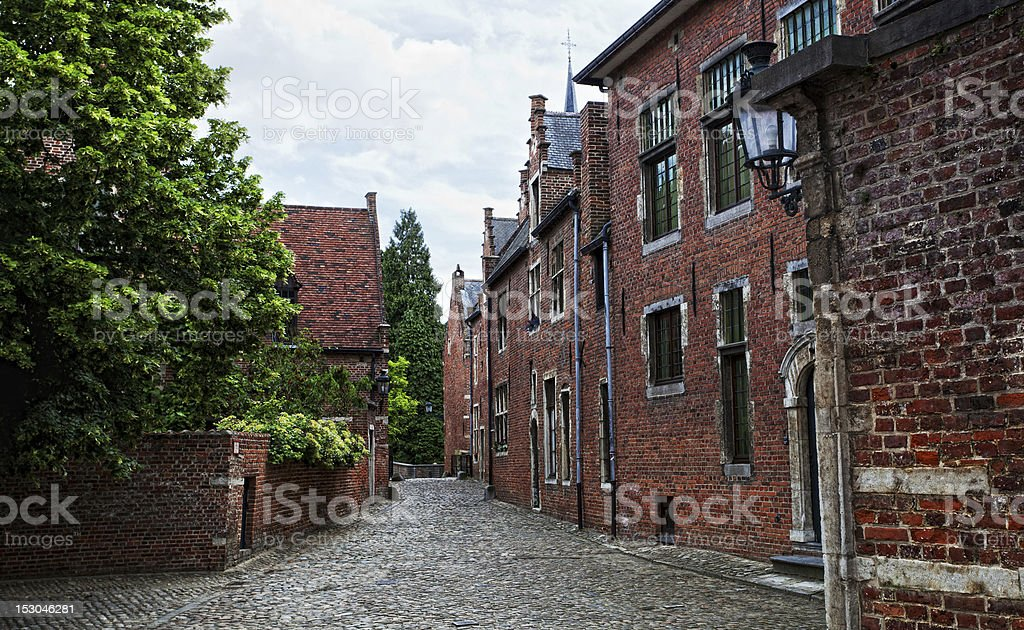 medieval quarter  the city of Leuven stock photo