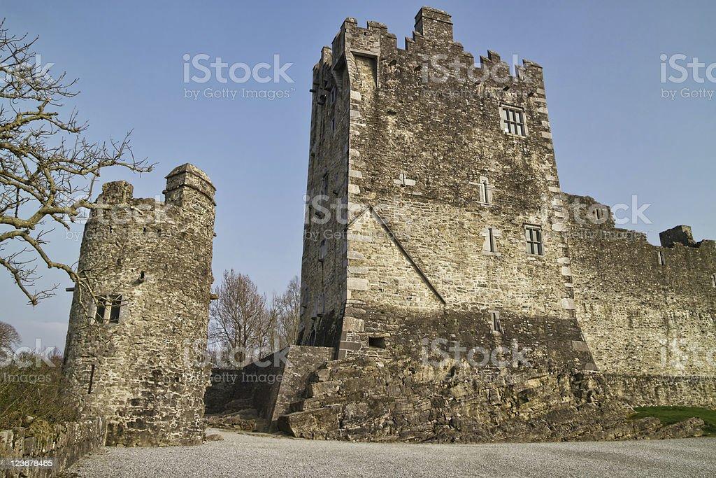 Medieval Ross castle in Killarney stock photo