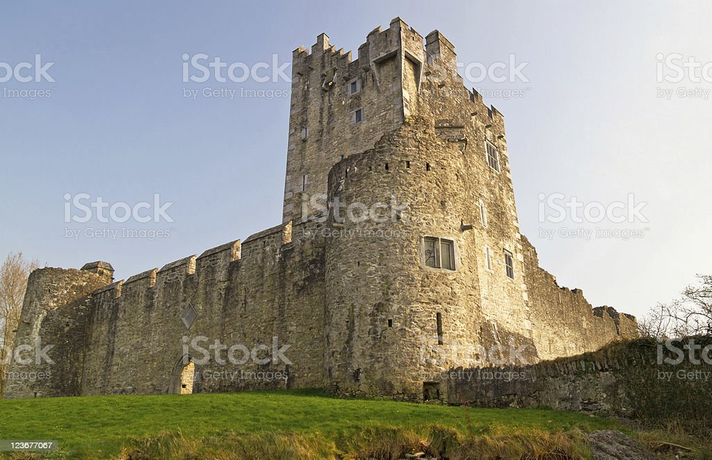 Medieval Ross castle stock photo
