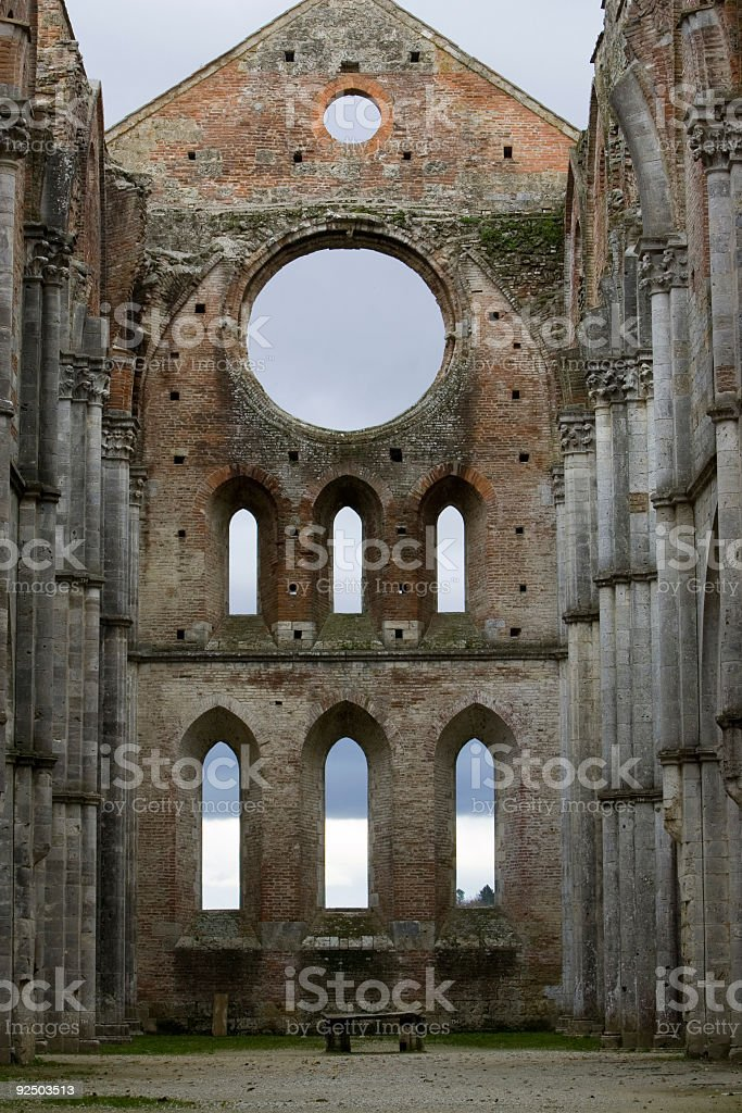 medieval ruin royalty-free stock photo