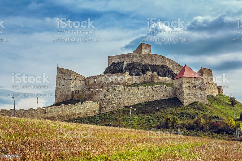 Medieval Rupea fortress, Romania royalty-free stock photo