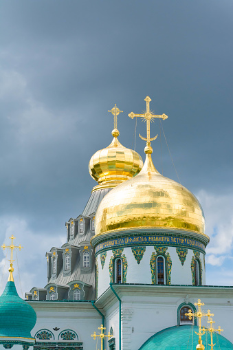 Medieval Russian monastery. Christian culture, tourism and pilgrimage.