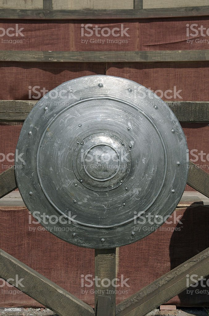 Medieval shield royalty-free stock photo