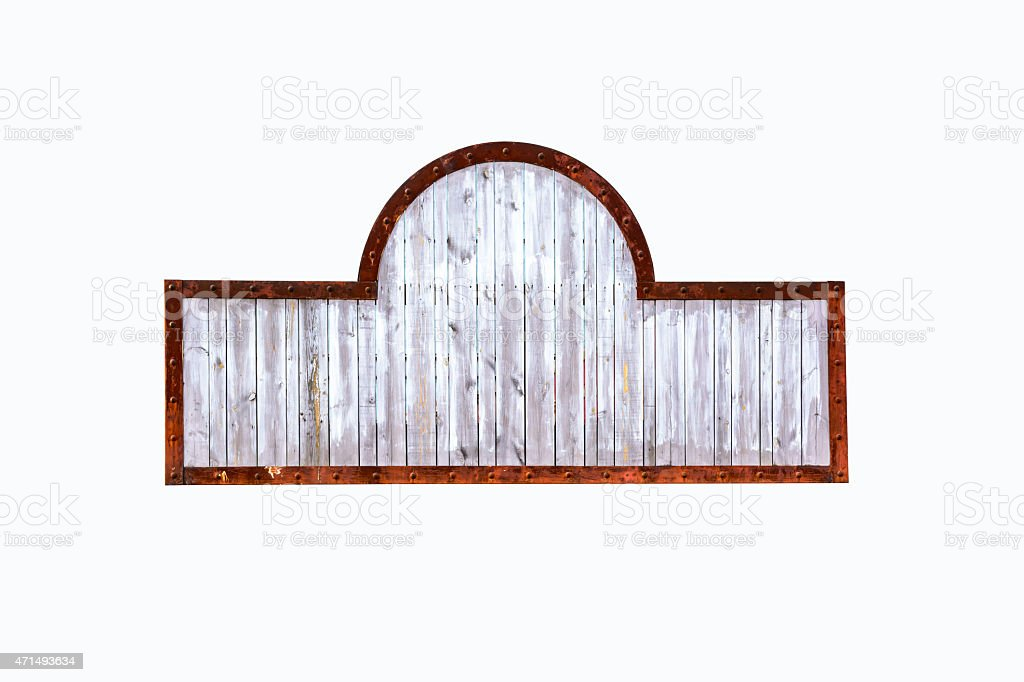 Medieval Signboard With Rusty Metal Frame Stock Photo & More ...