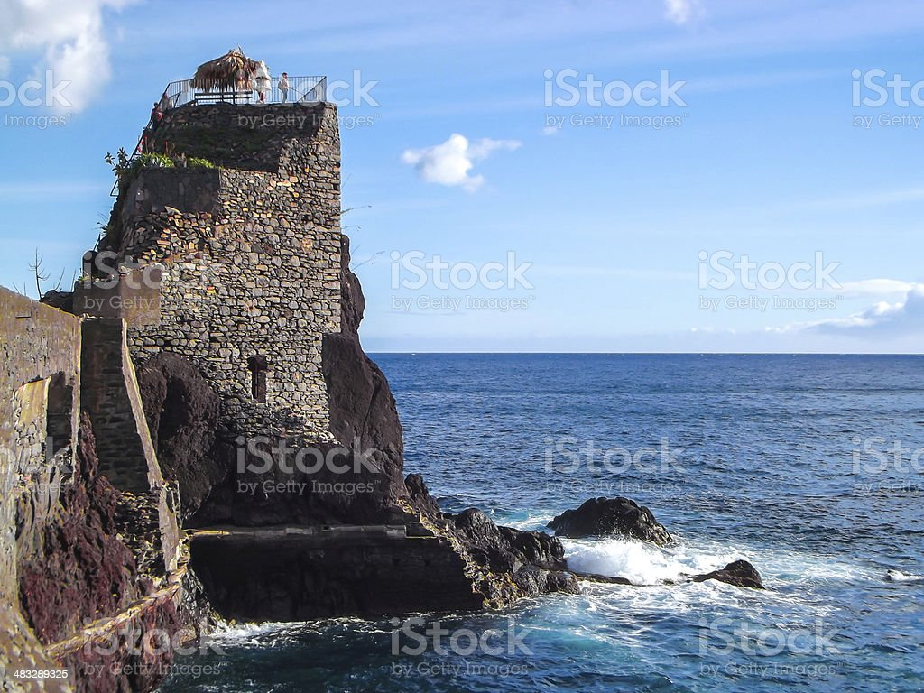 Medieval small Fortress upon islander royalty-free stock photo