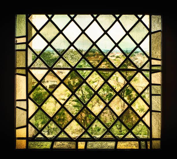Mittelalterliche Buntglasfenster Fenster – Foto