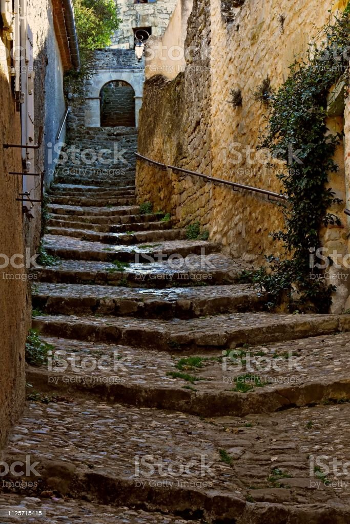 Medieval steps stock photo