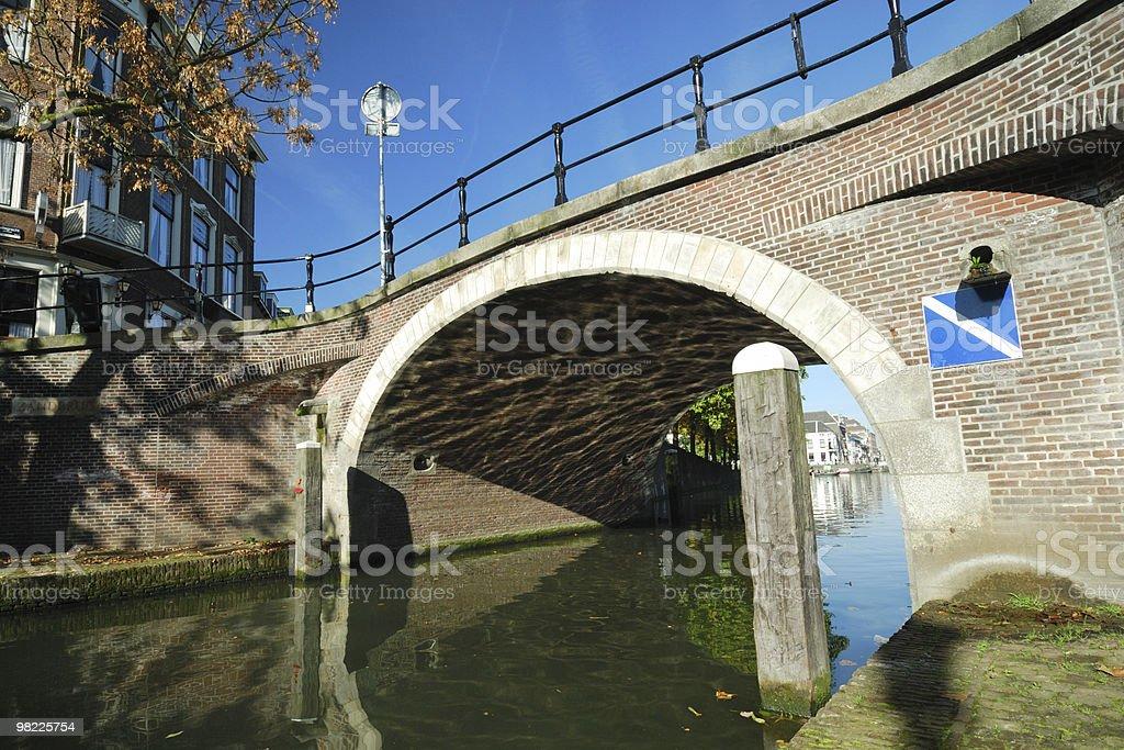 Medieval stone bridge in Utrecht royalty-free stock photo