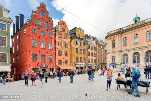 587773316 istock photo medieval Stortorget square in Stockholm 458730909