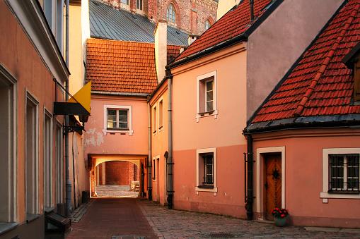 medieval street in Riga