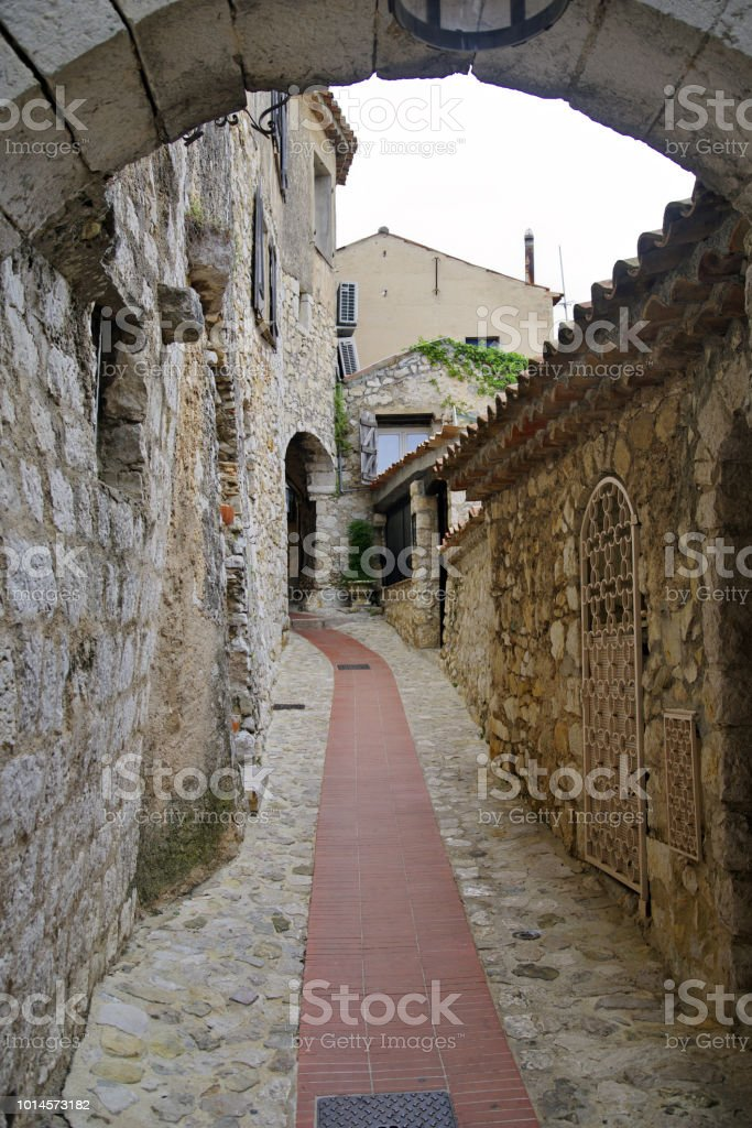 Medieval Streets of Eze foto stock royalty-free