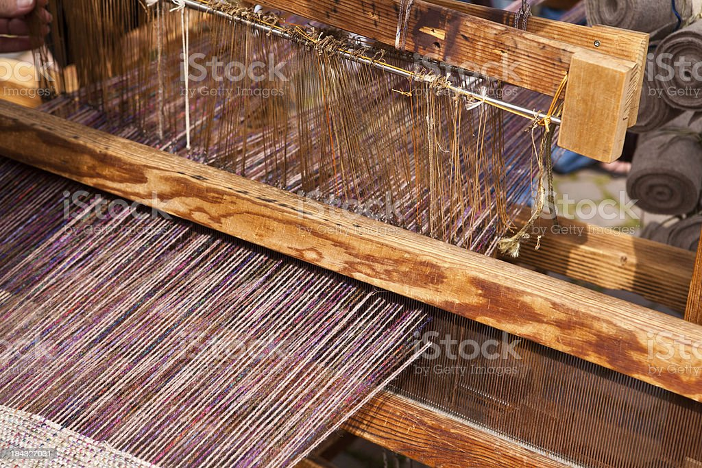 medieval style loom royalty-free stock photo