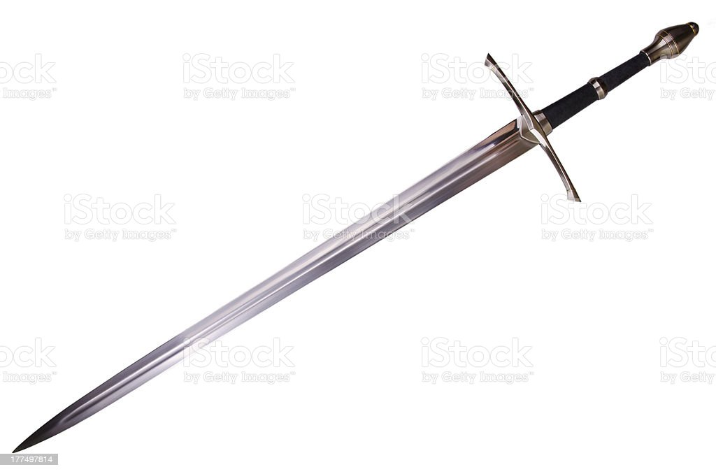 medieval sword stock photo