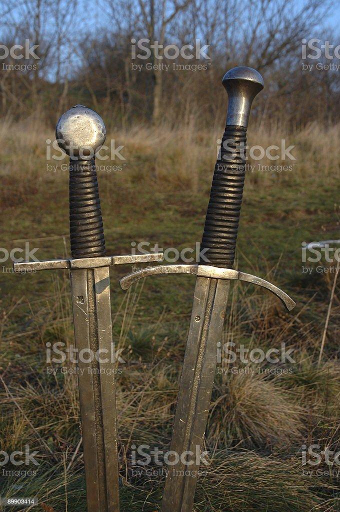 Mittelalterliche Schwerter Lizenzfreies stock-foto