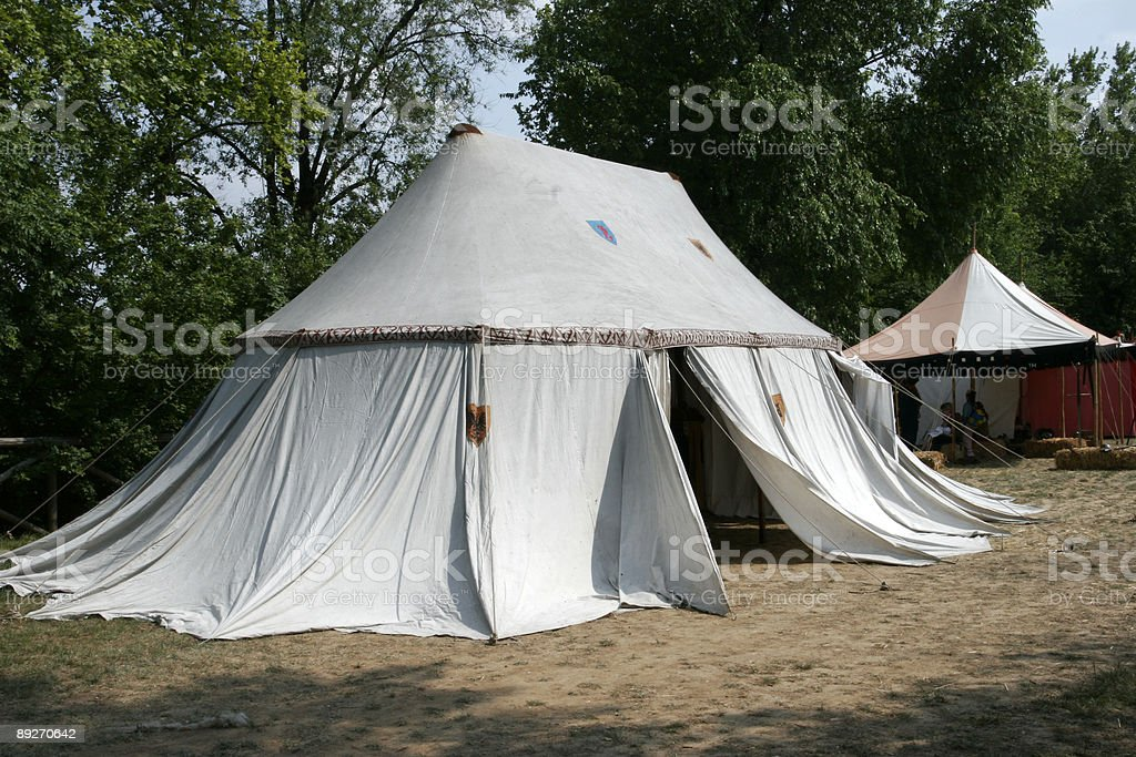 Medieval Tent stock photo