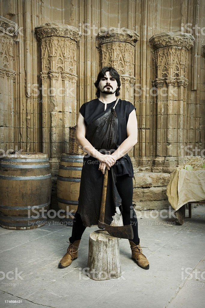 Medieval Times Executioner royalty-free stock photo