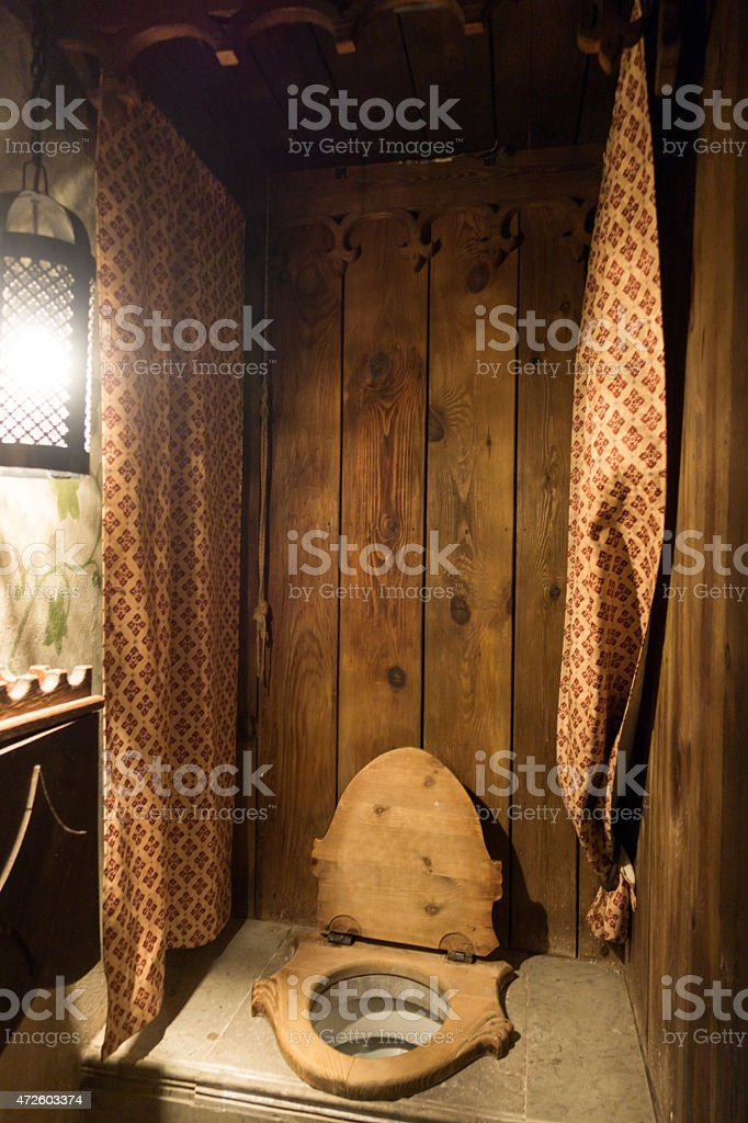 Medieval Toilet Seat In Old Hansa Restaurant Tallinn Royalty Free Stock Photo