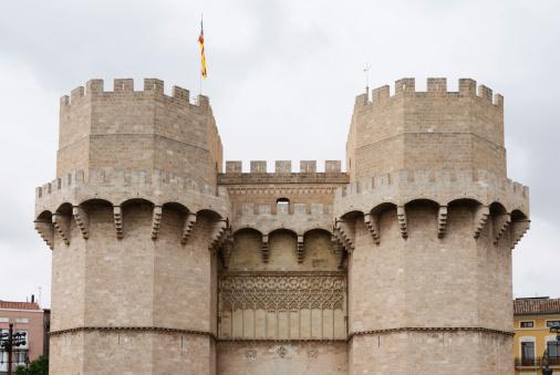 Medieval Torres de Serranos tower in Valencia