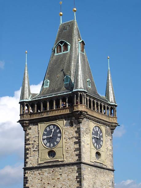 medieval tower in prague - fsachs78 stockfoto's en -beelden