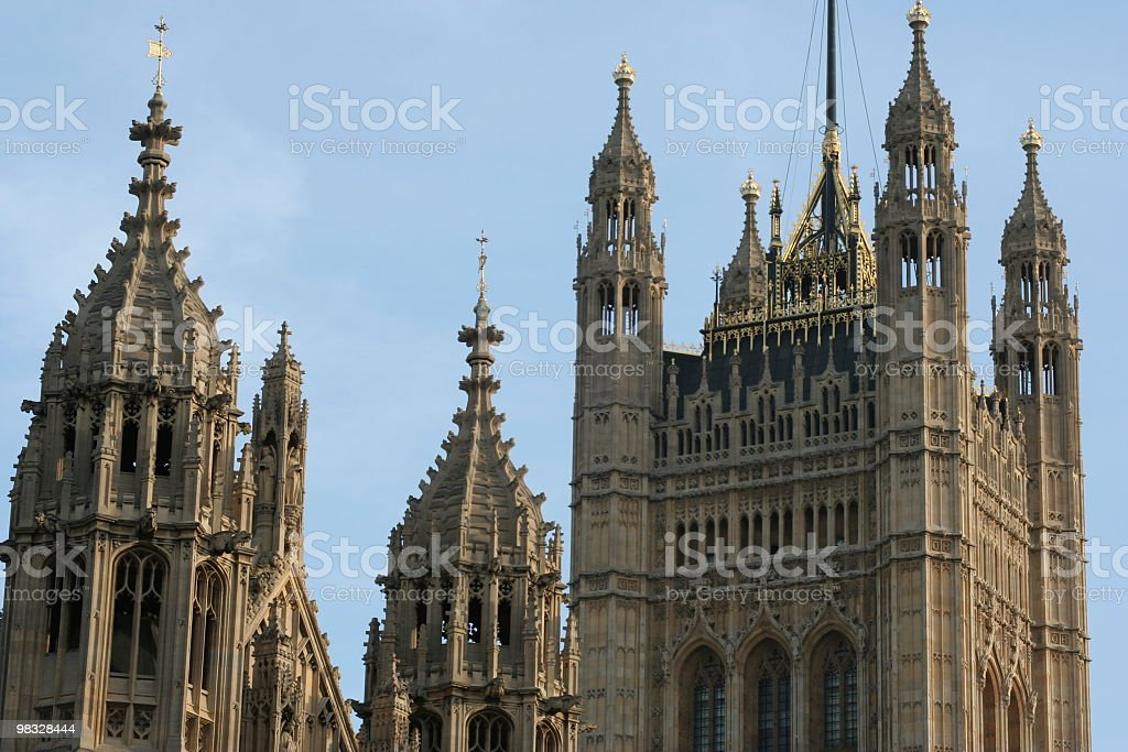 Medieval towers royalty-free stock photo