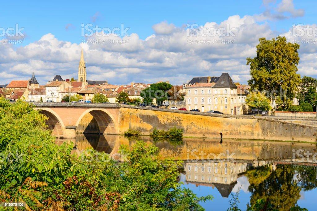 Mittelalterliche Stadt Bergerac, am Fluss Dordogne – Foto