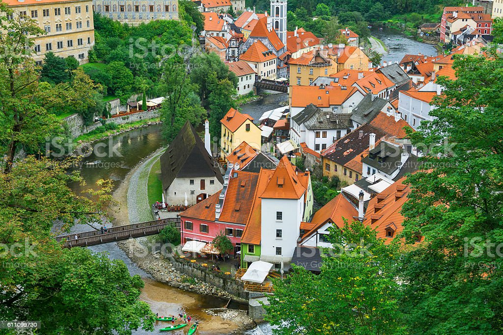 Medieval Town Cesky Krumlov Czech Republic Royalty Free Stock Photo