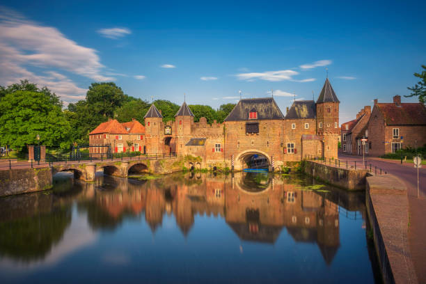 Medieval town gate in Amersfoort, Netherlands stock photo